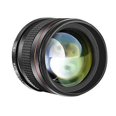 Neewer 85mm f/1.8 Portrait Manual Focus Telephoto Lens for C