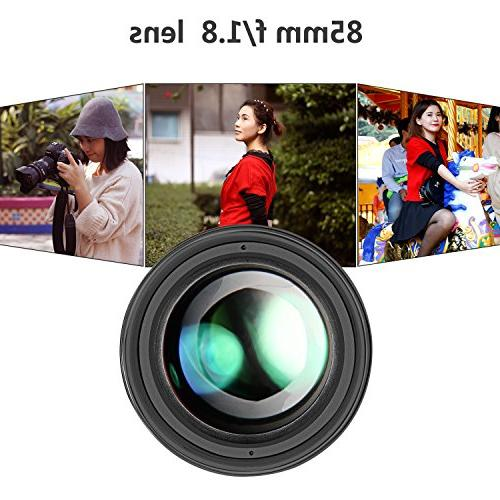 Neewer Multi-Coated 85mm Portrait Aspherical for 70D 60D 60Da 7D 5DS 1Ds Rebel T6s T6 T5 T3i T3 SL1 DSLR Focus