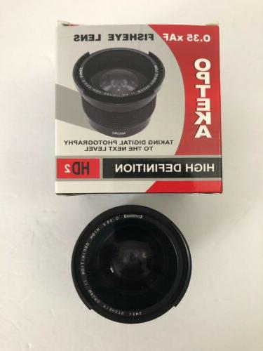 opteka 35x af fisheye lens together