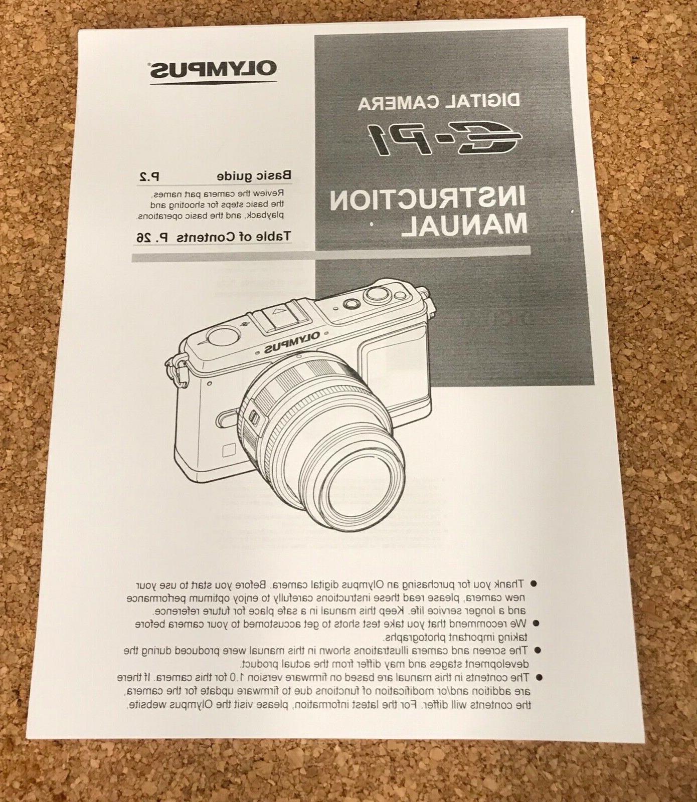 Olympus E-P1 12.3 MP 2 lenses 50