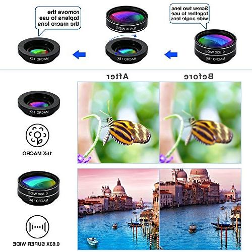 Phone 9 Universal lens + Wide Lens Macro Lens + Macro + + + Starburst Lens