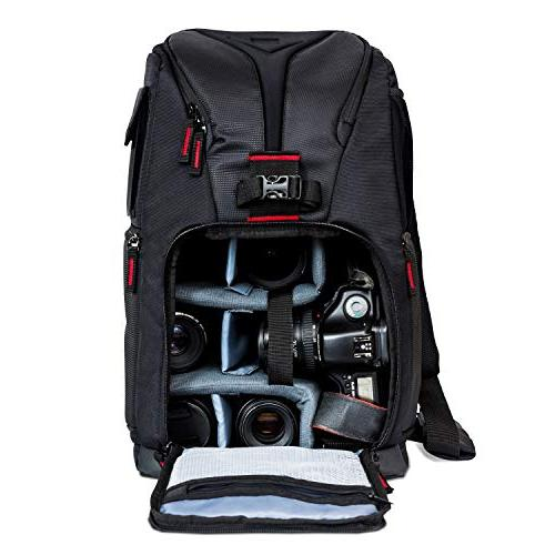 Deco Gear Camera Photo Camera Backpack for Cameras Fits Laptops