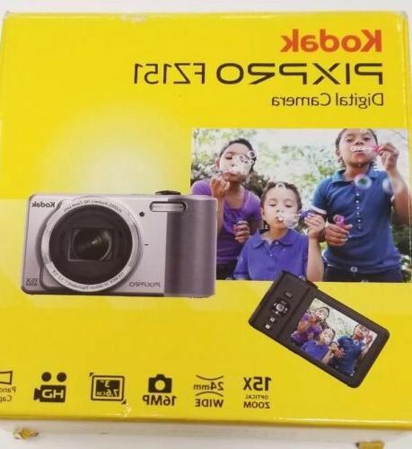 pixpro fz151 16mp digital camera silver brand