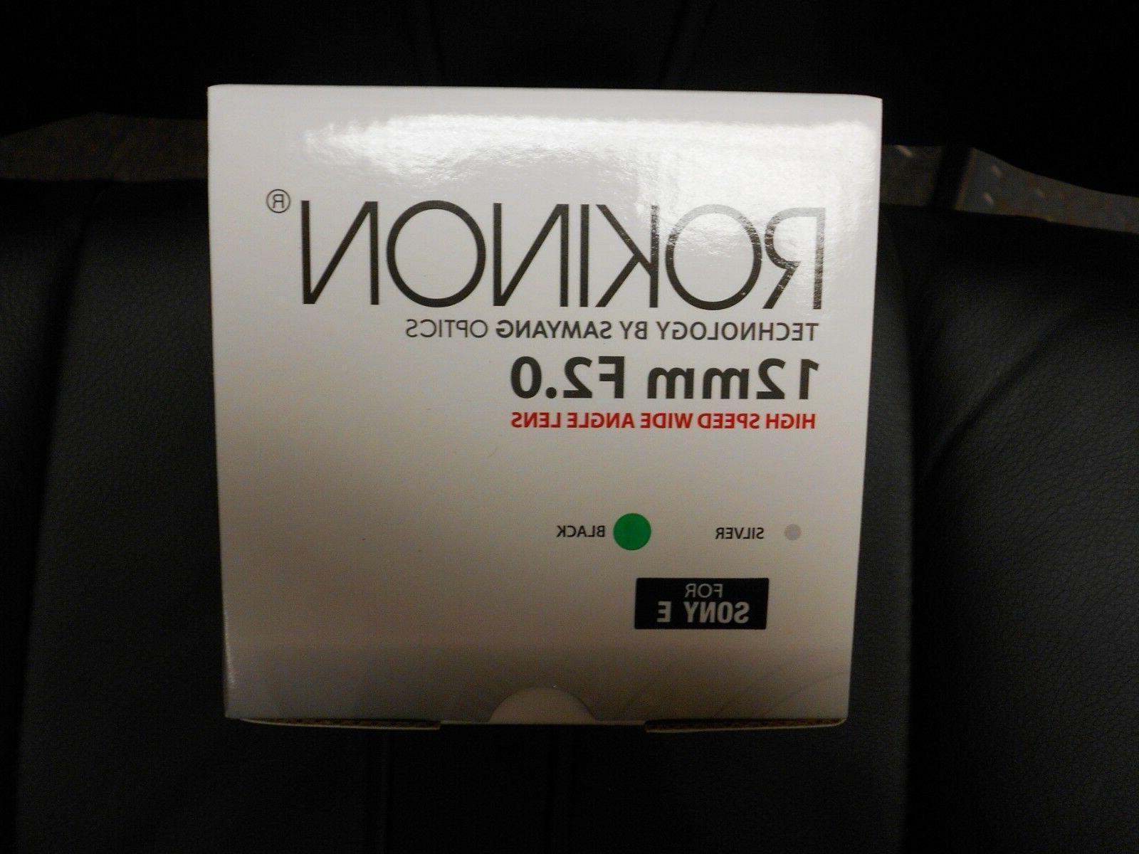 Rokinon RK12M-E F/2.0 Wide Sony