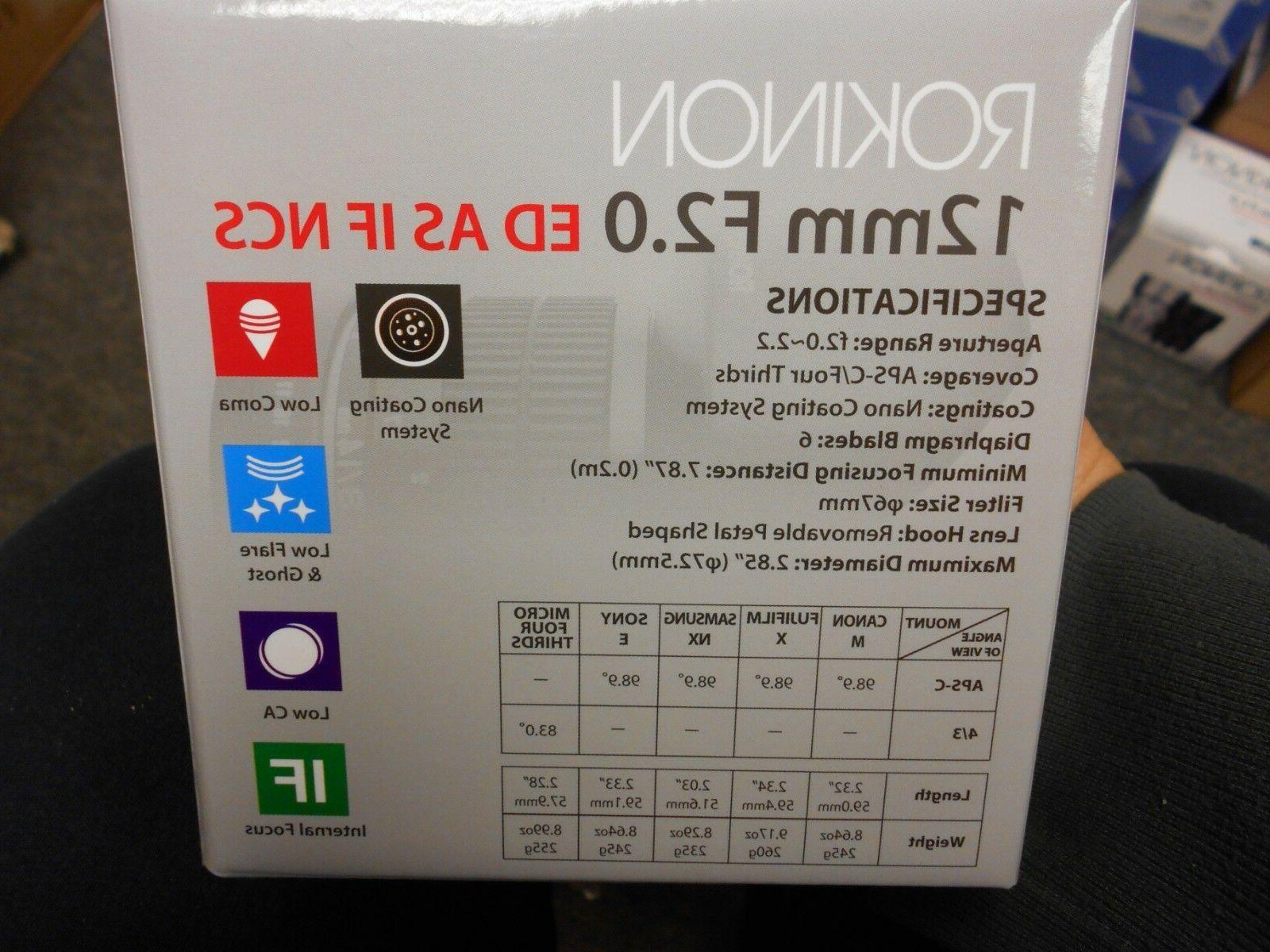 Rokinon 12mm Ultra Angle for Micro
