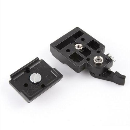 SLR DSLR Camera Tripod Quick Release Clamp Plate Mount Screw Set