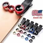 Smart Phone Camera Lens Universal 3in1 Clip On Kit Wide Angl