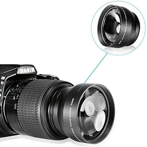 Neewer® Telephoto with Cleaning Cloth Nikon D3000, D7100, D3, D4, D60, D700 other SLR