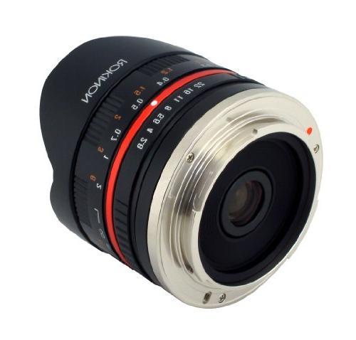 Rokinon 8mm Fisheye II for Fuji X Digital Cameras