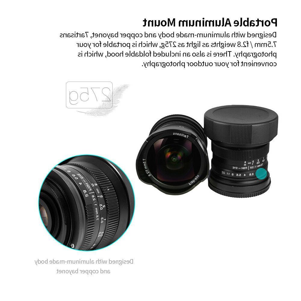 US Warehouse 7artisans F2.8 for Panasonic Olympus M4/3 Camera