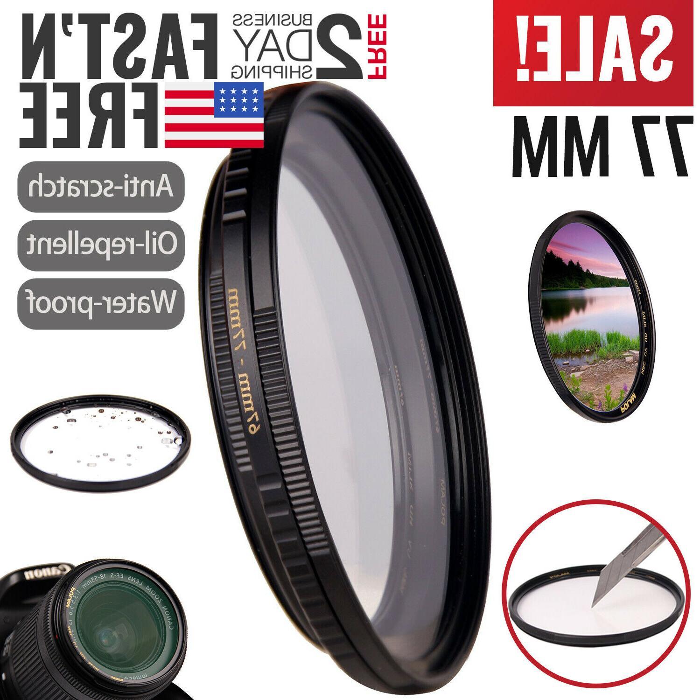 UV Filter 77mm For Camera Lenses Ultraviolet Haze DSLR Prote