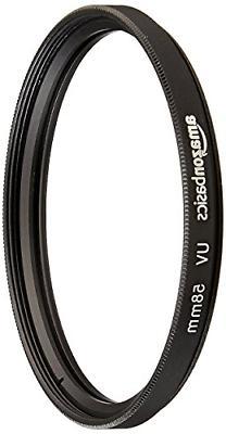 AmazonBasics UV Protection Lens Filter 58mm Durable