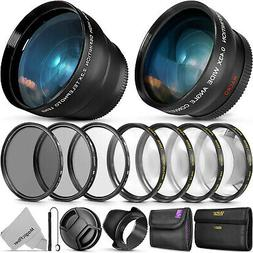 55mm Lens Bundle Accessory Kit for Nikon D3400 w/ AF-P DX 18