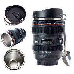 Camera Lens Coffee Mug + Bonus Cute Spoon, Photo Coffee Mugs
