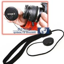 Lens Cover Cap Holder Keeper String Leash Strap Rope For Can