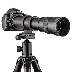KCzazy Camera Lens 420-800mm F/8.3-16 Super Telephoto Manual