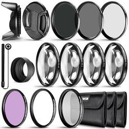 Neewer 49MM Lens Filter and Accessory Kit, Includes: UV CPL