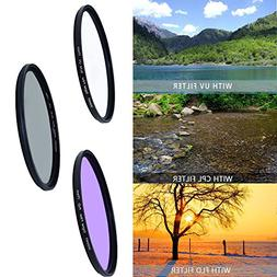52mm Professional Lens Filter Accessory Kit  for DSLR, Camer