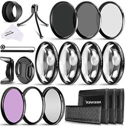 Neewer 58MM Camera Lens Filter Kit Includes 58MM Close up Fi