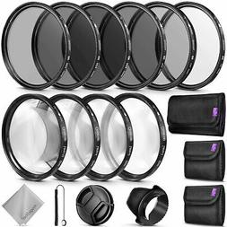 52MM Complete Lens Filter Accessory Kit for NIKON DSLR Camer