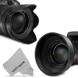 Sensei 52mm 3-in-1 Collapsible Rubber Lens Hood for 28mm to 300mm Lenses 4 Pack