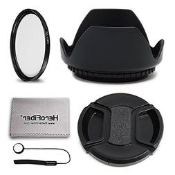 52mm Lens Accessories Kit with 52mm Lens Hood, 52mm UV Filte
