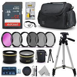 Professional 58mm Lens Accessories Bundle Kit for Canon Rebe