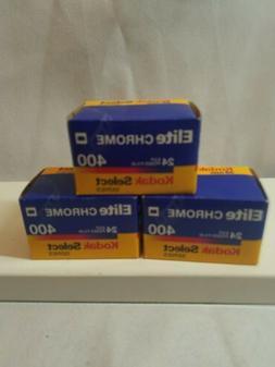 LOT: 3 EXPIRED ROLLS 35mm KODAK CHROME ELITE CHROME 400 flim