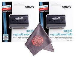 2 Pack of LP-E6 / LP-E6N Vivitar Ultra High Capacity Recharg