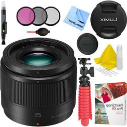 Panasonic Lumix G 25mm f/1.7 ASPH. Lens  - H-H025K with Acce