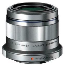 Olympus M.Zuiko Digital 45mm f/1.8 ED Lens  Argent