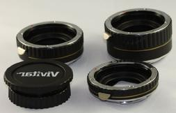 Vivitar Professional Macro Automatic Extension Tube Set of 3