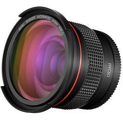 Neewer 52MM 0.35x Pro Macro Fisheye Wide Angle Lens with Mac