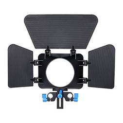 Annsm Matte Box for 15mm Standard Rail Rods for Canon Sony P
