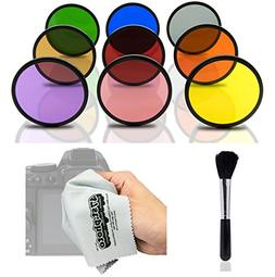 Opteka HD Multicoated Solid Color Filter Kit for Nikon 1 J5,