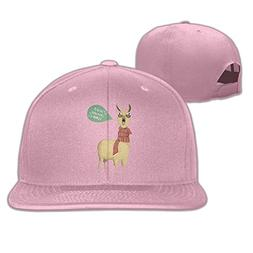 Yishuo Men HOLIDAY LLAMA Fashion Travel Pink Caps Hats Adjus