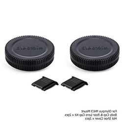 Micro 4/3 Rear Lens Cap Cover & Body Cap Cover Kit with Hot