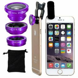 For Mobile Phone Fish Eye Wide Angle Macro Lens Camera Lens