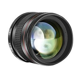 Neewer 85mm f/1.8 Portrait Manual Focus Telephoto Lens for N