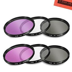 55mm and 58mm Multi-Coated 3 Piece Filter Kit  for Nikon D35