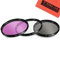 46mm Multi-Coated 3 Piece Filter Kit  for Panasonic Lumix DM
