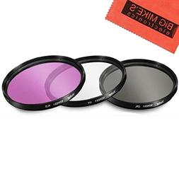 37mm Multi-Coated 3 Piece Filter Kit  For Olympus 14-42mm f/