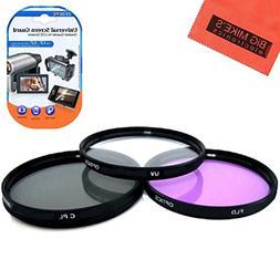 52mm Multi-Coated 3 Piece Filter Kit  For Panasonic Lumix G