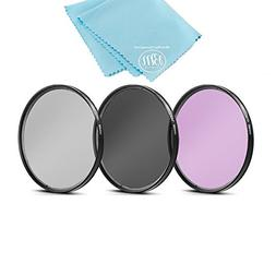 58mm Multi-Coated 3 Piece Filter Kit  for Select Canon, Niko