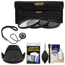 Vivitar 3-Piece Multi-Coated HD Filter Set  with Hood + Acce