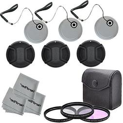 55MM Multi-Coated Professional Lens Filter Accessory Kit and