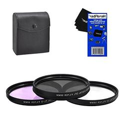 58mm Multi-Coated professional 3 Piece Lens Filter Kit  For