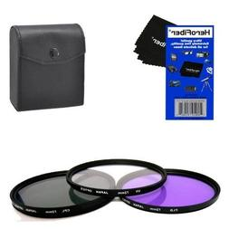 72mm Multi-Coated professional 3 Piece Lens Filter Kit  For