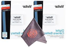 2 Pack Vivitar NB-6L / NB-6LH Ultra High Capacity Rechargeab