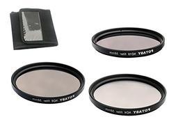 Fotasy ND58Kit 58mm Neutral Density ND4 ND8 ND16 Filter Set